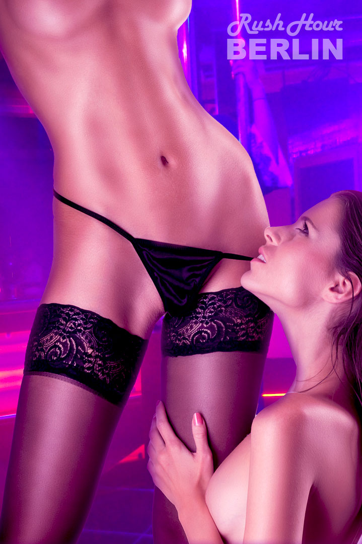 Tänzerinnen Veronika und Julie Stripclub Rush Hour Berlin